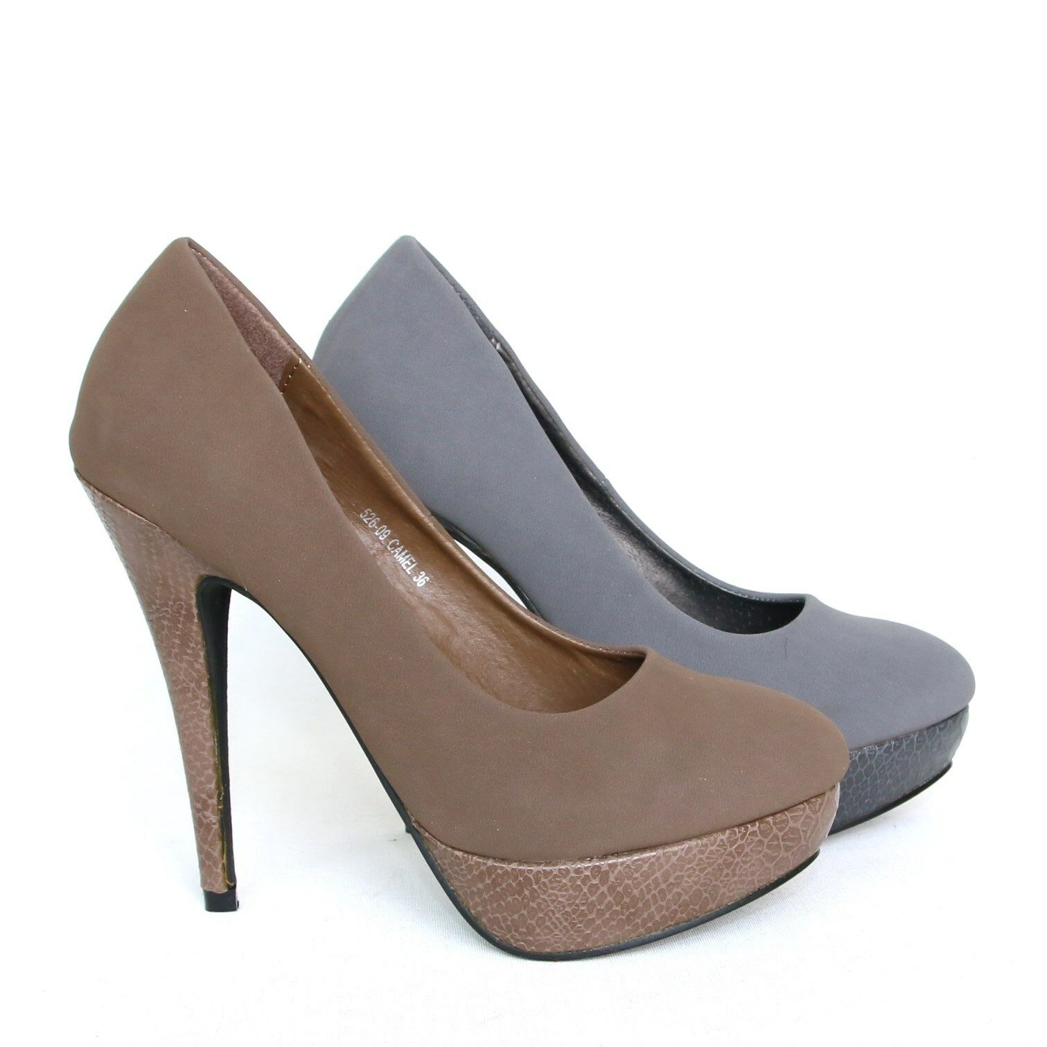 Plateau Damen Pumps High Heels Stilettos Damenschuhe Party Shoes Neu 526-09