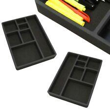 2 Desk Drawer Organizers Insert Black Home Or Office 7 Slot 159 X 119 New