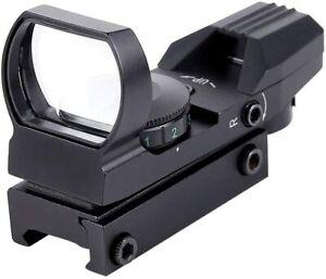 20mm-Rail-Rifle-scope-Hunting-Optics-Holographic-Green-Dot-Sight-Reflex-4Reticle