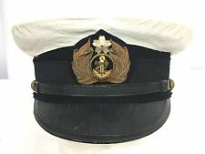 WWII Japanese Navy Officers Dress Hat With White Cover