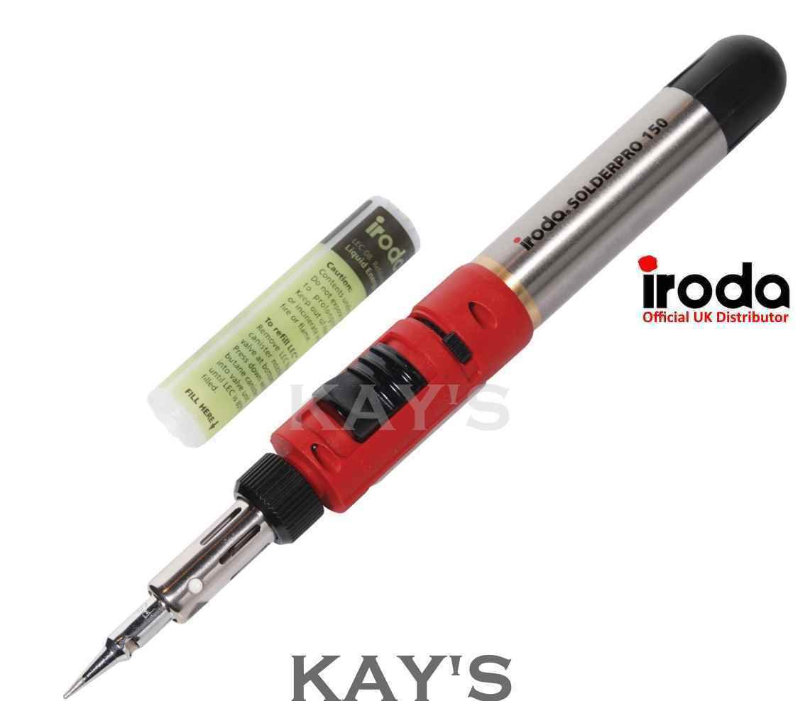 PRO IRODA SOLDERPRO 150 GAS SOLDERING IRON WITH REFILLABLE FUEL CELL 30-125w