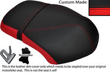 BLACK & RED CUSTOM FITS YAMAHA XF 50 GIGGLE DUAL LEATHER SEAT COVER ONLY