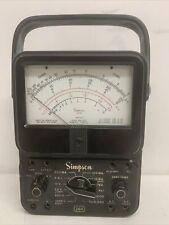 Vintage Simpson 260 Series 3 Volt Ohm Milliammeter Vom Multi Meter Multimeter