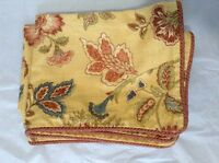 Gorgeous, Yellow Floral Croscill 3-Pc Queen Comforter & 2 Shams - NICE! (#IB-35)