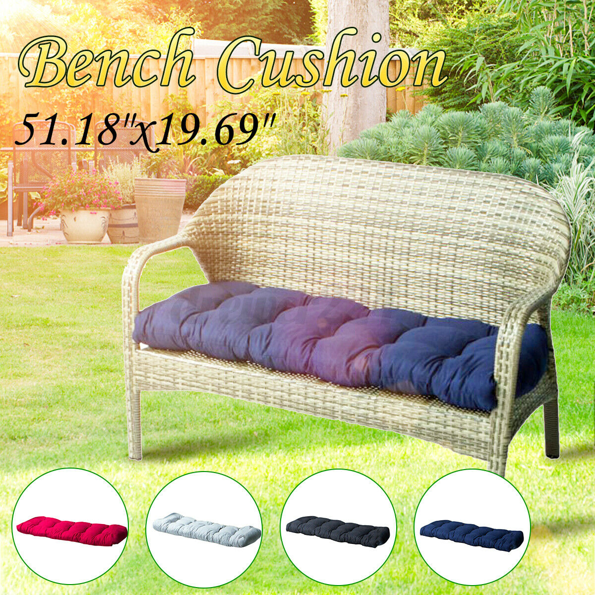 Garden Storage Bench Seat With Cushion Terrace Balcony Outdoor Patio Furniture For Sale Ebay