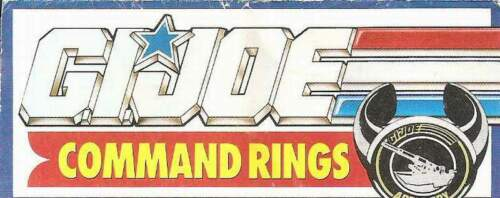 1990 GI Joe COMMAND RINGS insert guide booklet Sunglasses mail away JTC P900