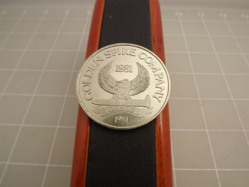 San Diego Trolley 1981 Golden Spike Mexico Chrome Coin Uncirculated