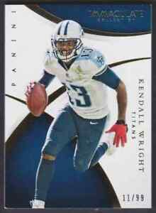 2015-PANINI-IMMACULATE-KENDALL-WRIGHT-11-99-TENNESSEE-TITANS-86-PARALLEL