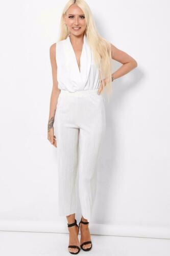 Stunning Crinkle Off White Pattern Flare Leg Crop Trousers Size 8-16