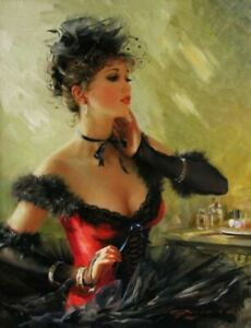 YA1321-Wall-decor-Hand-painted-oil-painting-Sexy-Women-Unframed-24-034-x36-034