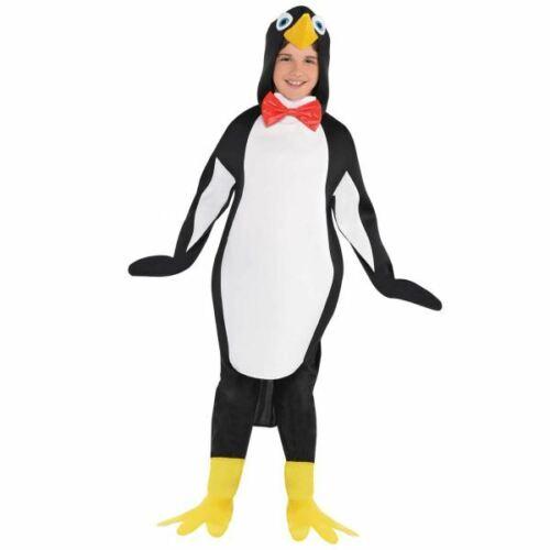 Boy Girls Penguin Costume Kids School Book Fancy Dress Christmas Story Outfit