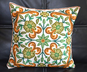Cotton-Ari-Chain-Stitch-Embroidery-Hand-Made-Floral-Motif-Pillow-Cover-Kashmir