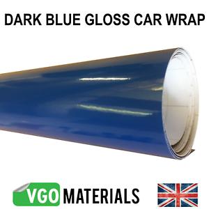 Vgoltd Bleu Foncé Brillant Wrap Air Libération Voiture Van 30 cm x 152 cm Expédié dans un tube