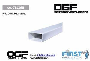 TUBO PER CAPPE CUCINA RETTANGOLARE 120x60 IN PVC DISTRIBUITO DA OGF ...