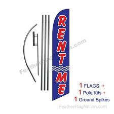 Rent Me 15ft Feather Banner Swooper Flag Kit with pole+spike