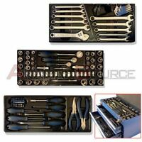 128 Pro Combo Tool Box Set Hd Steel Chest W/ 2 Drawers Tools Boxes & Cabinets