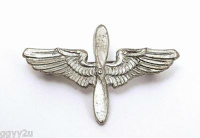 WWII Sterling Silver Pilot Air Force Wings Propeller
