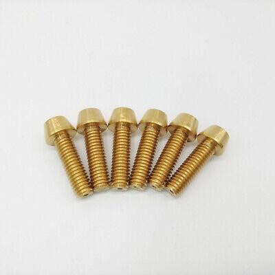 M6X30mm Titanium Ti Taper Head Bolts Allen Hex Headset Screw Gold 4Pcs//lot