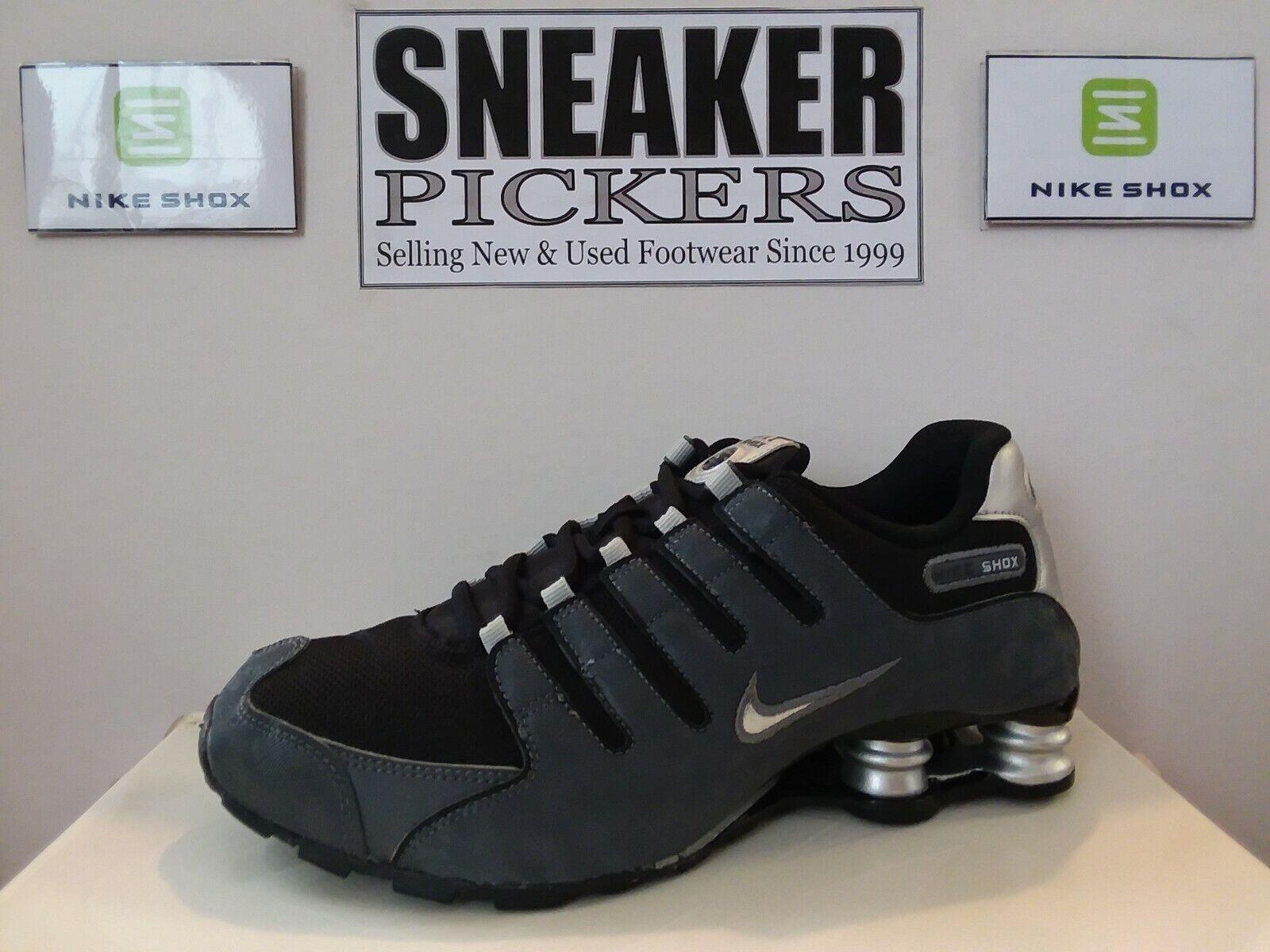 Nike Shox NZ SI PLUS GS - 317929 029 - Black / Dark Grey - Youth 7Y /  Womens 8.5