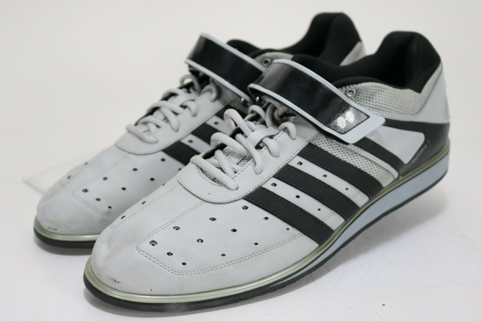 Adidas Powerlift Weightlifting  150 Men's CrossTraining shoes Size 15 Grey Black