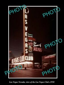 OLD-LARGE-HISTORIC-PHOTO-OF-LAS-VEGAS-NEVADA-VIEW-OF-THE-LAS-VEGAS-CLUB-c1950