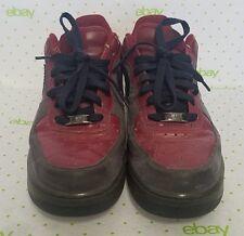 Nike Air Barkley Men's Size 11 Dark Red Leather Grey Suede 317295-662