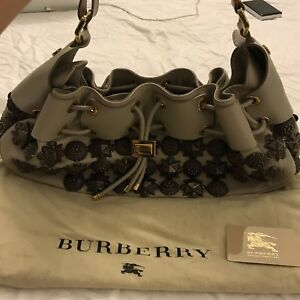Image is loading BURBERRY-Prorsum-Leather-Mason-Warrior-Studded-Hobo-Black- 16b27ca8760ff