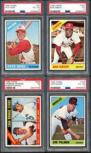 1966 Topps Baseball Complete  Mid-Grade set w/20 PSA  - Please read description