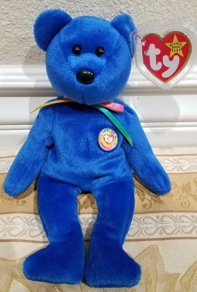 RARE Ty Beanie Baby -  Clubby   Official Club Bear - MWMT w Tag Predector