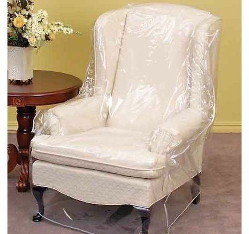 5x Strong CLEAR HEAVY DUTY ARMCHAIR Cover Removal Storage Furniture Predector