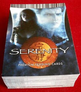 SERENITY - COMPLETE BASE SET of 72 trading cards - Inkworks 2006 (FIREFLY)