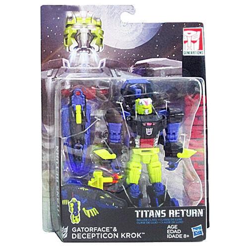 Transformers Generations Titans Return Wave 4 Deluxe Gatorface & Krok