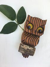 Vintage Wood Owl Wall Hanging | Boho | Rustic Decor | Natural | Wooden