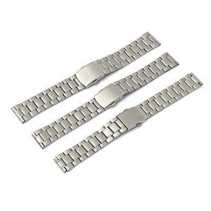 Uhrenarmband-Metallband-Uhren-Armband-Uhrenband-Edelstahl-Silber-18mm-20mm-22mm