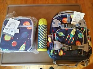 Pottery Barn Set Solar System Backpack Lunch Box Water