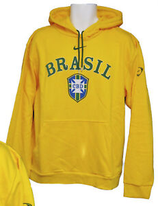 amazon watch official site Details zu New NIKE Vintage CBD BRAZIL BRASIL Football Cotton Hoodie Canary  Yellow Large