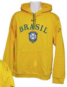 New Cotton Yellow Brazil Vintage Hoodie Cbd Canary Football Nike Brasil Large wrwfHq