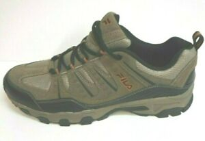 Fila-Size-11-5-Brown-Leather-Trail-Sneakers-New-Mens