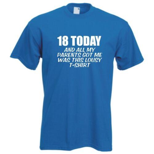 18th birthday celebration funny T-shirt bday custom new