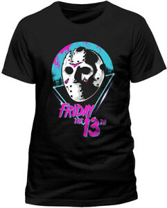 Friday-The-13th-T-Shirt-OFFICIAL-Jason-80-039-s-Mask-Classic-Horror-Film-NEW-SMLXLXX