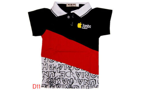 Super mignon cool apple bonne chance garçons enfants polo en coton t shirt top