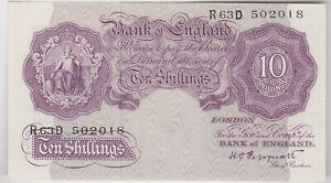 2019 Nouveau Style B251 K.o. Peppiatt R63d 1940 Temps De Guerre 10/- Billet De Banque En Parfait état-afficher Le Titre D'origine