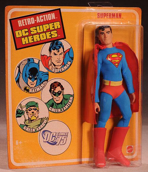 Superman Retro Action DC Super Heroes Action Figure by Mattel NIB 2010