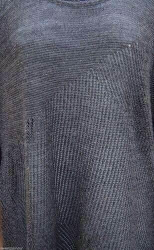 $248 Eileen Fisher Shimmery Metallic Ash Merino Stitch Play Tunic Top Sweater