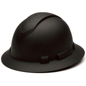 pyramex hp54117 ridgeline full brim hard hat graphite black ebay