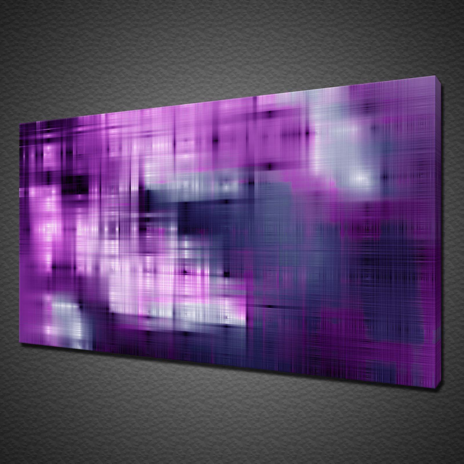 Design Astratto Viola Bianco Blu Tela Stampa Wall Art Picture Foto