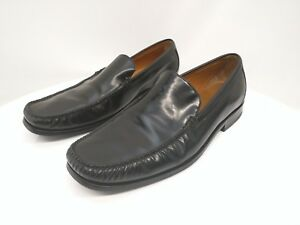 cole haan black leather slip on loafer casual dress shoes