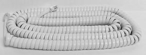 New 25 Foot Handset Curly Cord (Bright white color) for Panasonic Phone