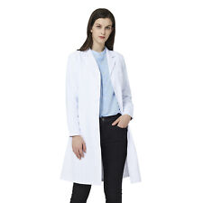 """Dilly White 39/"""" Women/'s Knee Length Lab Coat w// Pockets Size 34 Style X1631"""