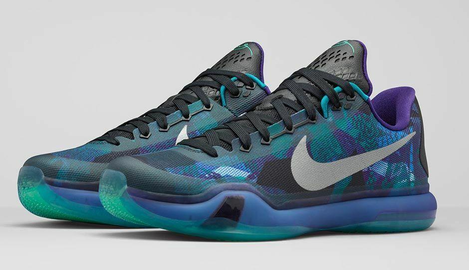 Nike Kobe X 10  Overcome   Peach Jam  Men's Size 11.5 Emerald Bryant 705317-305